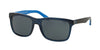 Polo PH4098 Square Sunglasses  556387-TRANSPARENT BLUE 57-18-145 - Color Map blue
