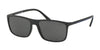 Polo PH4115 Rectangle Sunglasses  528487-MATTE BLACK 57-16-145 - Color Map black