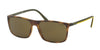 Polo PH4115 Rectangle Sunglasses  560273-VINTAGE DARK HAVANA 57-16-145 - Color Map havana