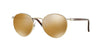 Persol PO2388S Round Sunglasses  1016W4-LIGHT GOLD 51-20-145 - Color Map brown