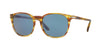 Persol PO3007S Square Sunglasses  105056-STRIPED BROWN YELLOW 53-18-145 - Color Map brown