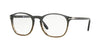 Persol PO3007V Square Eyeglasses  1012-GRADIENT GREY STRIP GREEN 52-19-145 - Color Map grey