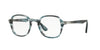 Persol PO3142V Square Eyeglasses  1051-STRIPED GREY 47-21-145 - Color Map blue