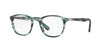 Persol PO3143V Rectangle Eyeglasses  1051-STRIPED GREY 49-21-145 - Color Map blue