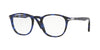 Persol PO3143V Rectangle Eyeglasses  1099-BLUE GRID 49-21-145 - Color Map blue