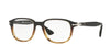 Persol PO3145V Pillow Eyeglasses  1026-BROWN/STRIPPED BROWN 51-18-145 - Color Map brown