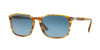 Persol PO3158S Rectangle Sunglasses  1050Q8-STRIPPED BROWN YELLOW 56-19-145 - Color Map havana