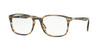 Persol PO3161V Square Eyeglasses  1049-STRIPED BROWN GREY 54-19-145 - Color Map grey