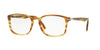 Persol PO3161V Square Eyeglasses  1050-STRIPET BROWN YELLOW 54-19-145 - Color Map brown
