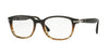 Persol PO3163V Square Eyeglasses  1026-BROWN/STRIPPED BROWN 54-19-145 - Color Map havana