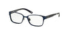 Polo Prep PP8032 Rectangle Eyeglasses  481-MATTE NAVY 46-15-125 - Color Map blue