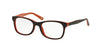 Polo Prep PP8522 Square Eyeglasses  1245-TORT/ORANGE 46-16-125 - Color Map havana