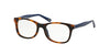 Polo Prep PP8522 Square Eyeglasses  1306-TORTOISE BLUE/BLUE 46-16-125 - Color Map havana