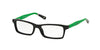 Polo Prep PP8523 Rectangle Eyeglasses  1312-BLACK/GREEN BLACK 47-15-125 - Color Map black