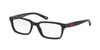 Polo Prep PP8525 Rectangle Eyeglasses  1588-MATTE BLACK 49-16-130 - Color Map black