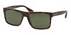 Prada PR01SSF Rectangle Sunglasses  2AU0B2-HAVANA 57-18-145 - Color Map havana