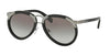 Prada PR01TS Pilot Sunglasses  1AB0A7-BLACK 56-18-145 - Color Map black