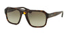 Prada PR02SS Square Sunglasses  2AU4M1-HAVANA 55-21-140 - Color Map havana