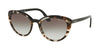 Prada CONCEPTUAL PR02VSF Cat Eye Sunglasses  3980A7-OPAL SPOTTED BROWN/BLACK 54-20-145 - Color Map brown