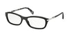 Prada CONCEPTUAL PR04PVA Cat Eye Eyeglasses  1AB1O1-GLOSS BLACK 54-17-135 - Color Map black