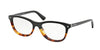 Prada PR05RV Cat Eye Eyeglasses  TKA1O1-BLACK/LIGHT HAVANA 53-17-140 - Color Map black