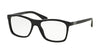 Prada PR05SVF Square Eyeglasses  1AB1O1-BLACK 55-17-145 - Color Map black
