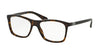 Prada PR05SVF Square Eyeglasses  2AU1O1-HAVANA 55-17-145 - Color Map havana