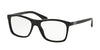 Prada PR05SV Square Eyeglasses  1AB1O1-BLACK 55-17-140 - Color Map black