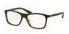 Prada PR05SV Square Eyeglasses  UBG1O1-TOP BROWN/MATTE TORTOISE 55-17-140 - Color Map brown