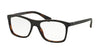 Prada PR05SV Square Eyeglasses  UBH1O1-TOP BLACK/MATTE TORTOISE 55-17-140 - Color Map black