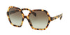 Prada PR06SSF Irregular Sunglasses  7S04K1-MEDIUM HAVANA 56-18-135 - Color Map havana