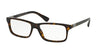 Prada HERITAGE PR06SVF Rectangle Eyeglasses  2AU1O1-HAVANA 56-16-145 - Color Map havana