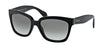 Prada PR07PS Square Sunglasses  1AB0A7-BLACK 56-18-140 - Color Map black
