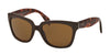 Prada PR07PS Square Sunglasses  DHO5Y1-BROWN 56-18-140 - Color Map brown