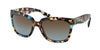 Prada PR07PS Square Sunglasses  NAG0A4-HAVANA SPOTTED BLUE 56-18-140 - Color Map blue