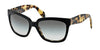 Prada PR07PS Square Sunglasses  NAI0A7-TOP BLACK/MEDIUM HAVANA 56-18-140 - Color Map black