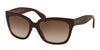 Prada PR07PS Square Sunglasses  UAN0A6-OPAL BORDEAUX ON BORDEAUX 56-18-140 - Color Map bordeaux