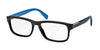 Prada 0PR 07PV PR07PV Rectangle Eyeglasses  1BO1O1-MATTE BLACK 56-17-145 - Color Map black