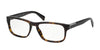 Prada 0PR 07PV PR07PV Rectangle Eyeglasses  2AU1O1-HAVANA 56-17-145 - Color Map havana