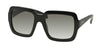 Prada PR07RS Square Sunglasses  1AB0A7-BLACK 56-20-140 - Color Map black