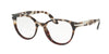 Prada PR07TV Phantos Eyeglasses  U6P1O1-SPOTTED BROWN OP/SPOTTED RED 52-19-140 - Color Map brown