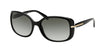 Prada CONCEPTUAL PR08OS Rectangle Sunglasses  1AB0A7-BLACK 57-17-130 - Color Map black