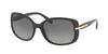 Prada CONCEPTUAL PR08OS Rectangle Sunglasses  1AB5W1-BLACK 57-17-130 - Color Map black