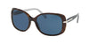 Prada CONCEPTUAL PR08OS Rectangle Sunglasses  2AU1V1-HAVANA 57-17-130 - Color Map havana