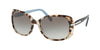 Prada CONCEPTUAL PR08OS Rectangle Sunglasses  UAO0A7-SPOTTED BROWN 57-17-130 - Color Map havana