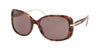 Prada CONCEPTUAL PR08OS Rectangle Sunglasses  UE06X1-PINK HAVANA 57-17-130 - Color Map pink