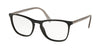 Prada CONCEPTUAL PR08VV Square Eyeglasses  1AB1O1-BLACK 55-19-145 - Color Map black