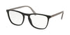 Prada CONCEPTUAL PR08VV Square Eyeglasses  1BO1O1-MATTE BLACK 55-19-145 - Color Map black