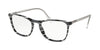 Prada CONCEPTUAL PR08VV Square Eyeglasses  3181O1-STRIPED GREY WHITE 53-19-145 - Color Map grey