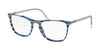 Prada CONCEPTUAL PR08VV Square Eyeglasses  3191O1-STRIPED GREY BLUE 53-19-145 - Color Map blue